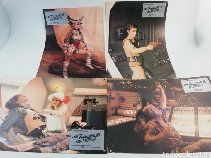 Cine: LOS 7 MAGNIFICOS DEL ESPACIO EXTERIOR 12 FOTOCROMOS JUEGO COMPLETO LOBBY CARDS. - Foto 3 - 152190577