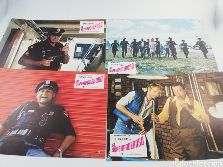 Cine: EL SUPERPODEROSO 12 FOTOCROMOS + GUIA, JUEGO COMPLETO LOBBY CARDS TERENCE HILL 1980 - Foto 1 - 152199352