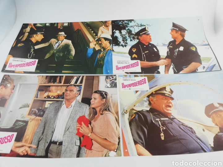 Cine: EL SUPERPODEROSO 12 FOTOCROMOS + GUIA, JUEGO COMPLETO LOBBY CARDS TERENCE HILL 1980 - Foto 3 - 152199352