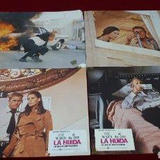 Cine: LA HUIDA. LOTE 4 FOTOCROMOS. Lote 152248278