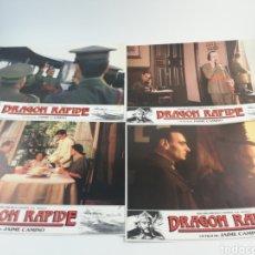 Cine: DRAGON RAPIDE 12 FOTOCROMOS JUEGO COMPLETO LOBBY CARDS FRANCO. Lote 152319445