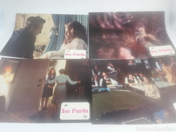 LA FURIA 12 FOTOCROMOS JUEGO COMPLETO BRIAN DE PALMA ROBERT MITCHUM LOBBY CARDS 1978 (Cine - Fotos, Fotocromos y Postales de Películas)