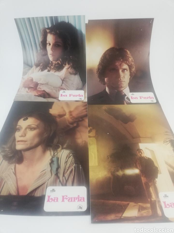 Cine: LA FURIA 12 FOTOCROMOS JUEGO COMPLETO BRIAN DE PALMA ROBERT MITCHUM LOBBY CARDS 1978 - Foto 2 - 152324366