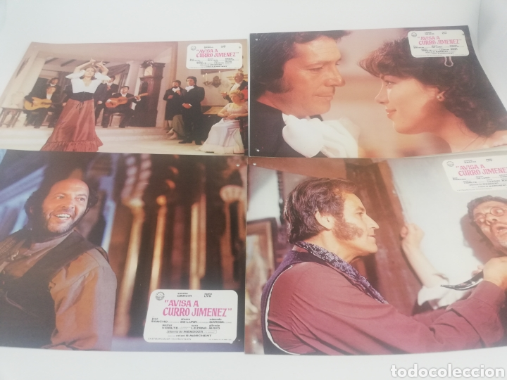 Cine: AVISA A CURRO JIMENEZ 12 FOTOCROMOS JUEGO COMPLETO SANCHO GRACIA AGATA LYS LOBBY CARDS. - Foto 3 - 152338784