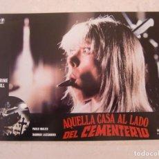 Cine: AQUELLA CASA AL LADO DEL CEMENTERIO / LUCIO FULCI / JUEGO COMPLETO ORIGINAL 12 FOTOCROMOS ESTRENO. Lote 152566830