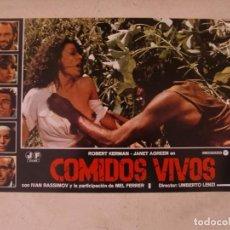 Cine: COMIDOS VIVOS / UMBERTO LENZI / JUEGO COMPLETO ORIGINAL 12 FOTOCROMOS ESTRENO. Lote 153481270