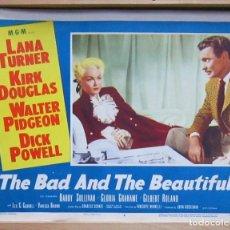 Cine: ZH25 CAUTIVOS DEL MAL LANA TURNER WALTER PIDGEON FOTOCROMO LOBBY TITLE CARD ORIGINAL AMERICANO. Lote 153999150