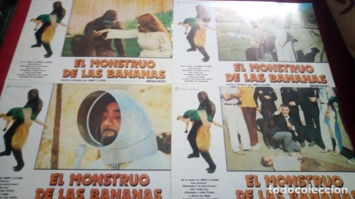 EL MONSTRUO DE LAS BANANAS. 34X24CM. 12 UNIDADES (Cine - Fotos, Fotocromos y Postales de Películas)