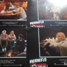 Cine: VIERNES 13 (2A PARTE). 34X24CM. 4 UNIDADES. Lote 154917454