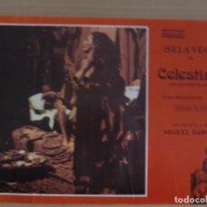 Cine: CELESTINA / ISELA VEGA / JUEGO COMPLETO ORIGINAL 10 FOTOCROMOS ESTRENO. Lote 155768678