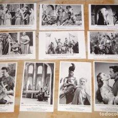 Cine: 10 FOTO POSTALES CINE CLÁSICO. AÑO 2009 PELÍCULA LOS CABALLEROS DEL REY ARTURO 1953. AVA GARDNER. Lote 155902686