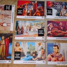 Cine: 8 FOTO POSTALES CINE CLÁSICO. AÑO 2004 PELÍCULA LOS DIEZ MANDAMIENTOS. CHARLTON HESTON, YUL BRYNER. Lote 155903366