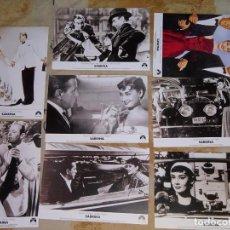 Cine: 8 FOTO POSTALES CINE CLÁSICO. AÑO 2004 PELÍCULA SABRINA 1954. AUDREY HEPBURN, HUMPHREY BOGART. Lote 155903910