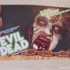 Cine: EVIL DEAD ( POSESION INFERNAL ) / SAM RAIMI / JUEGO COMPLETO ORIGINAL 8 FOTOCROMOS REESTRENO. Lote 156775034