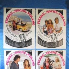 Cine: LOBBY CARD. 11 FOTOCROMOS. FIEBRE DE NOCHE DE VERANO, 1978.. Lote 157218734