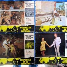 Cine: LOBBY CARD. 10 FOTOCROMOS. DESPERTAR EN EL INFIERNO. DONALD PLEASENCE, 1971.. Lote 157250290