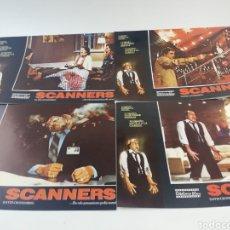 Cine: SCANNERS JUEGO COMPLETO 12 FOTOCROMOS LOBBY CARDS DAVID CRONENBERG TERROR CIENCIA FICCION GORE. Lote 157445853