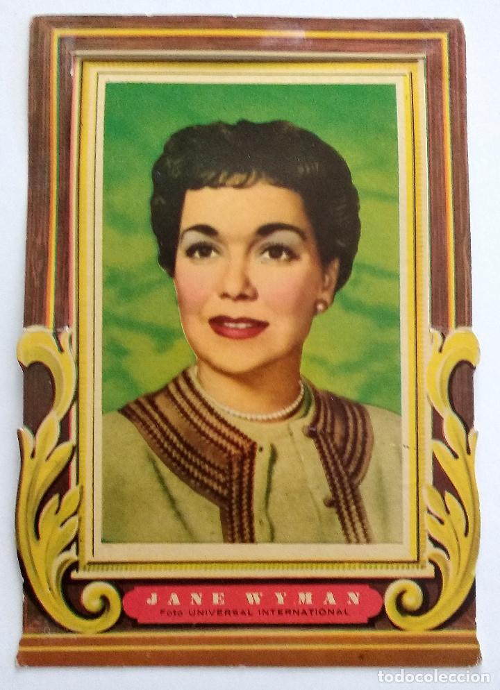 JANE WYMAN, FOTO MARCO TROQUELADO TIPO DISPLAY DE UNIVERSAL EN BUEN ESTADO (Cine - Fotos y Postales de Actores y Actrices)