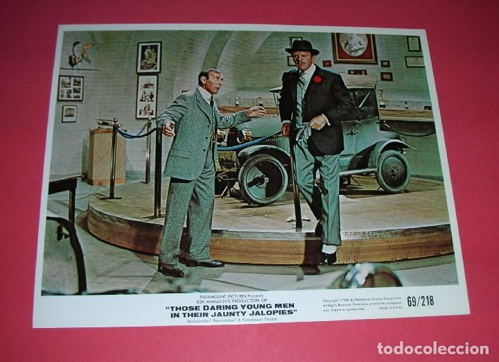 Cine: Lobby Cards 10 Those Daring Young Men in Their Jaunty Jalopies,1969 25x20cm RALLY MONTECARLO+ LIBRO - Foto 4 - 157895354