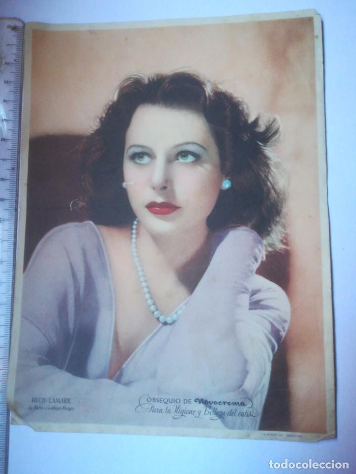 HEDY LAMARR METRO GOLDWYN MAYER PUBLICIDAD NOVOCREMA (27F) (Cine - Fotos y Postales de Actores y Actrices)