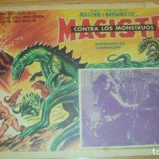 Cine: FOTOCROMO LOBBY MEXICANO. MACISTE CONTRA LOS MONSTRUOS. Lote 159452358