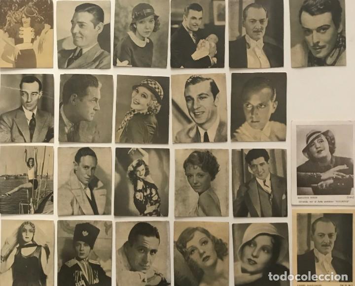 LOTE DE FOTOS DE ACTRICES Y ACTORES. MEDIDAS DESDE 6X7,5 CM HASTA 7X9,3 CM (Cine - Fotos y Postales de Actores y Actrices)
