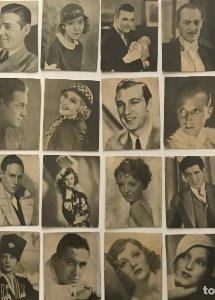 Lote de fotos de actrices y actores. Medidas desde 6x7,5 cm hasta 7x9,3 cm