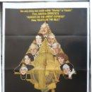 Cine: PÓSTER ORIGINAL DE LA PELÍCULA DEATH ON THE NILE, EE. UU., 1978, PETER USTINOV, BETTE DAVIS, 1-SHEET. Lote 159775694