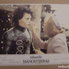 Cine: EDUARDO MANOSTIJERAS / WINONA RYDER /JOHNNY DEPP / TIM BURTON / JUEGO ORIGINAL 10 FOTOCROMOS ESTRENO. Lote 160457162