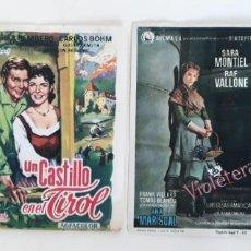 Cine: LOTE CUATRO POSTALES ORIGINALES CINE CLÁSICO EN PAPEL. Lote 161186873