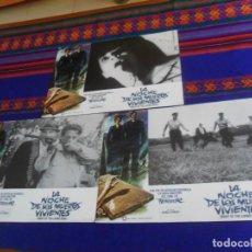 Cine: LOTE 4 FOTOCROMO FOTOCROMOS ORIGINAL LA NOCHE DE LOS MUERTOS VIVIENTES, GEORGE A. ROMERO.. Lote 161664566
