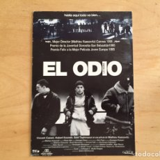 Cine: EL ODIO (POSTAL). Lote 162718406