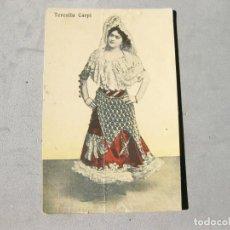 Cine: POSTAL FIRMADA DE LA ARTISTA CUPLETISTA TERESITA CARPI - JAE 1915. Lote 163410142