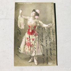 Cine: POSTAL FOTOGRAFICA FIRMADA Y ESCRITA POR LA ARTISTA TERESITA CALVO. TERESA 1907. Lote 163411190
