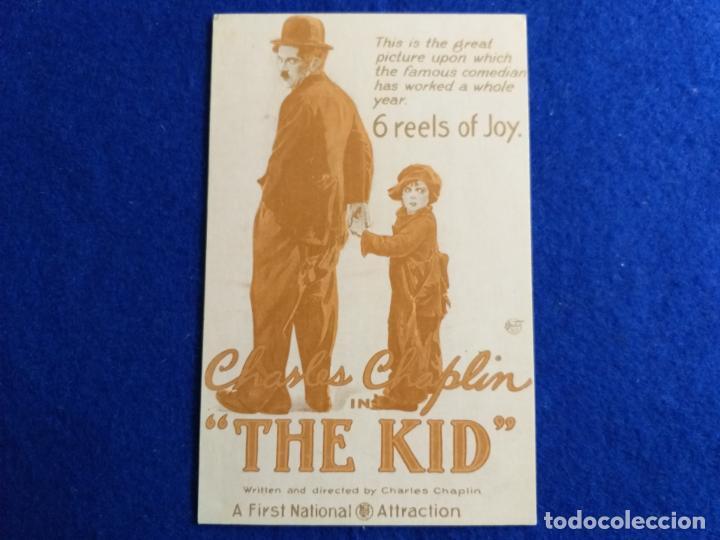 POSTAL DE LA PELÍCULA. THE KID CHARLES CHAPLIN ESCRITOR Y DIRECTOR. PUBLICIDAD (Cine - Fotos y Postales de Actores y Actrices)