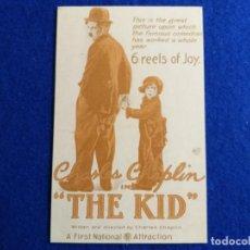 Cine: POSTAL DE LA PELÍCULA. THE KID CHARLES CHAPLIN ESCRITOR Y DIRECTOR. PUBLICIDAD . Lote 163757570