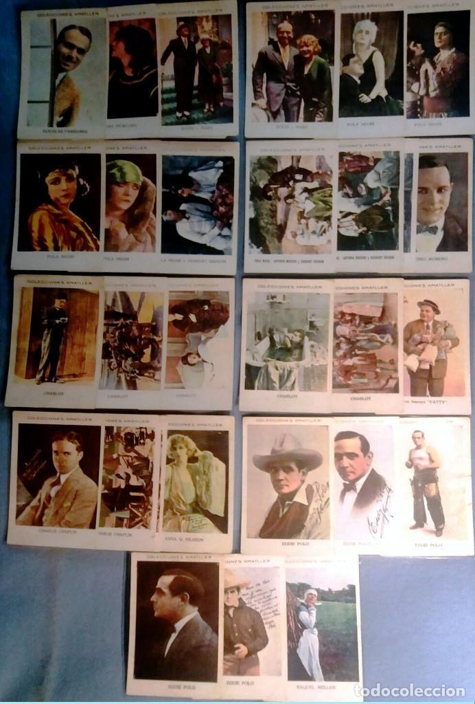 LOTE DE 27 CROMOS DIFERENTES DE ARTISTAS EN COLOR -COLECCIONES AMATLLER-REV.PUBLICIDAD 11,5 X 7,5 CM (Cine - Fotos y Postales de Actores y Actrices)