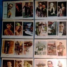 Cine: LOTE DE 27 CROMOS DIFERENTES DE ARTISTAS EN COLOR -COLECCIONES AMATLLER-REV.PUBLICIDAD 11,5 X 7,5 CM. Lote 163983634