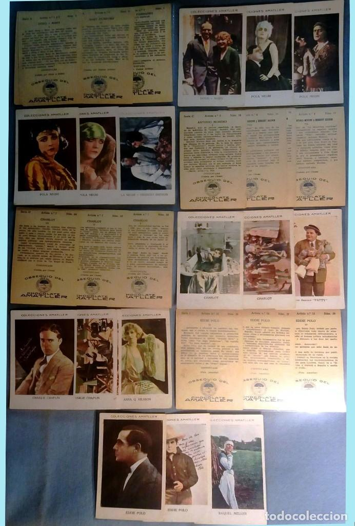 Cine: LOTE DE 27 CROMOS DIFERENTES DE ARTISTAS EN COLOR -COLECCIONES AMATLLER-Rev.Publicidad 11,5 X 7,5 cm - Foto 2 - 163983634