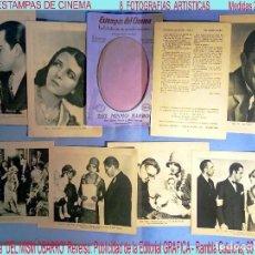 Cine: 8 FOTOS DE CINE -ESTAMPAS DEL CINEMA -DEL MISMO BARRO-.MONA MARIS Y JUAN TORENA. AÑOS 30. ARGUMENTO. Lote 164103698