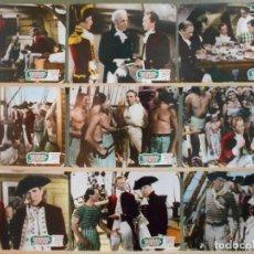 Cine: WK90D REBELION A BORDO / LA TRAGEDIA DE LA BOUNTY CLARK GABLE SET 9 FOTOCROMOS CARTON ORIGINAL. Lote 165205730