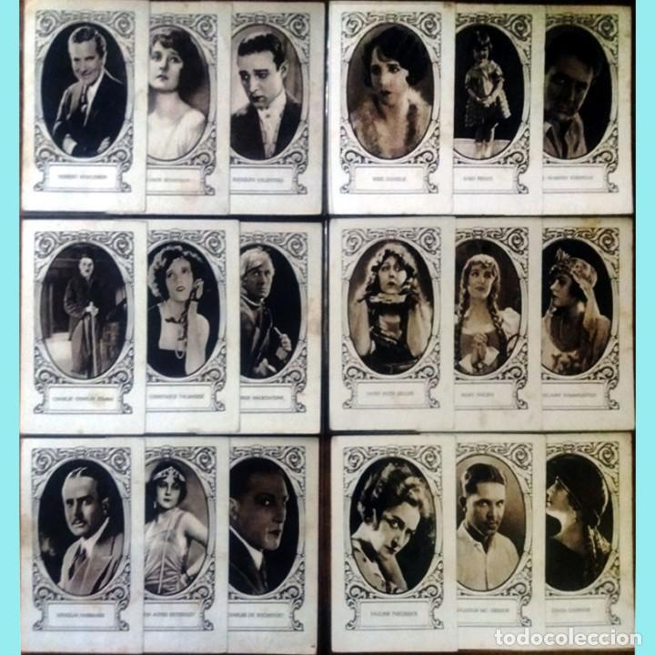 18 CROMOS ARTISTAS DE CINE DE FAMA MUNDIAL SERIE -F- REVERSO SERIE, Nº, ARTISTA Y BIOGRAFIA 7,5 X 12 (Cine - Fotos y Postales de Actores y Actrices)