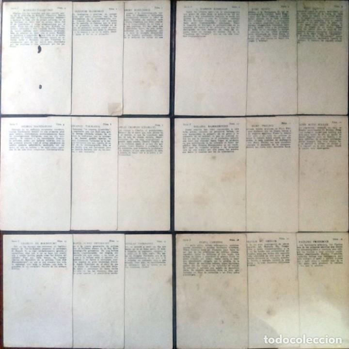 Cine: 18 CROMOS ARTISTAS DE CINE DE FAMA MUNDIAL SERIE -F- Reverso Serie, Nº, Artista y Biografia 7,5 x 12 - Foto 2 - 165223486