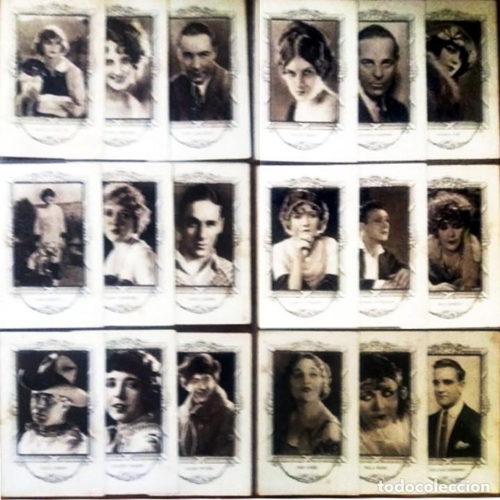 18 CROMOS ARTISTAS DE CINE DE FAMA MUNDIAL SERIE -C- REVERSO SERIE, Nº, ARTISTA Y BIOGRAFIA 7,5 X 12 (Cine - Fotos y Postales de Actores y Actrices)