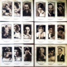 Cine: 18 CROMOS ARTISTAS DE CINE DE FAMA MUNDIAL SERIE -C- REVERSO SERIE, Nº, ARTISTA Y BIOGRAFIA 7,5 X 12. Lote 165239142