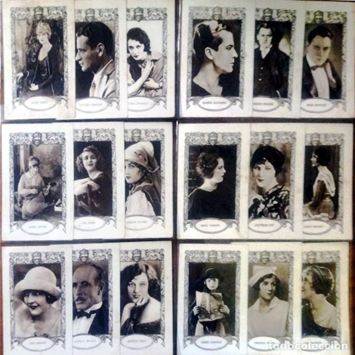 18 CROMOS ARTISTAS DE CINE DE FAMA MUNDIAL SERIE -D- REVERSO SERIE, Nº, ARTISTA Y BIOGRAFIA 7,5 X 12 (Cine - Fotos y Postales de Actores y Actrices)