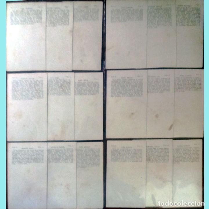 Cine: 18 CROMOS ARTISTAS DE CINE DE FAMA MUNDIAL SERIE -D- Reverso Serie, Nº, Artista y Biografia 7,5 x 12 - Foto 2 - 165244522