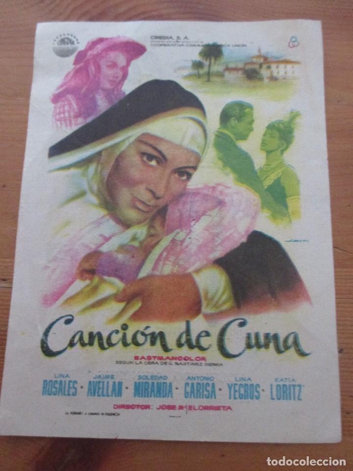CANCIÓN DE CUNA RIALTO VALENCIA 1961 (Cine - Fotos, Fotocromos y Postales de Películas)