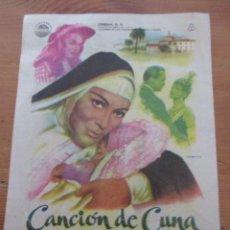 Cine: CANCIÓN DE CUNA RIALTO VALENCIA 1961. Lote 165246066