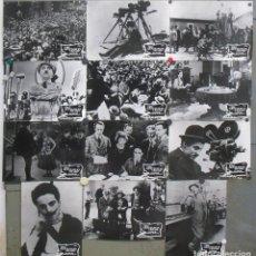 Cine: OX99D LA VIDA DE CHARLES CHAPLIN SET COMPLETO 12 FOTOCROMOS GRANDES ORIGINAL ESTRENO RARO. Lote 165251662